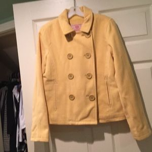 Abercrombie & Fitch Yellow double Breasted Coat